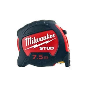 Milwaukee 48229908 Stud Tape Measure 7.5m (Width 27mm) (Metric Only), Red for $56