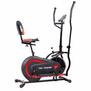 Body Power 3-in-1 Exercise Machine, Trio Trainer, Elliptical and Upright/Recumbent Bike for $253
