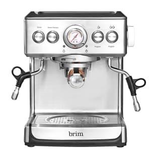 Brim 19-Bar Espresso Maker for $225