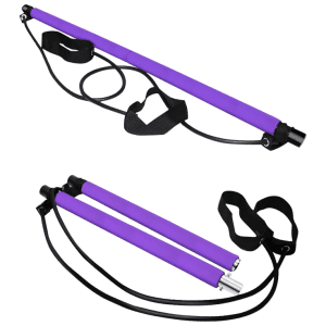 Zunammy Pilates Bar Stick w/ Resistance Bands for $16