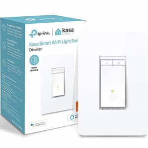 Kasa Smart Dimmer Switch HS220, Single Pole, Needs Neutral Wire, 2.4GHz Wi-Fi Light Switch Works for $18