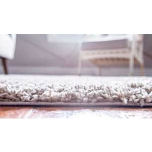 Unique Loom Davos Collection Modern Luxuriously Soft & Cozy Shag Area Rug, 2' 2 x 3' 0 Rectangular, for $15