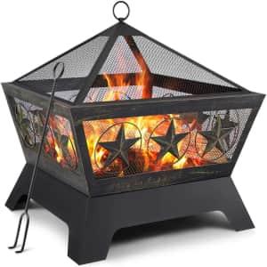 """Amagabeli 24"""" Outdoor Wood Burning Firepit for $137"""