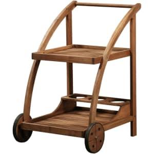 Linon Catalan Outdoor Drink Cart for $86