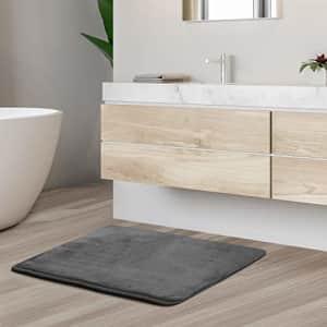 Clara Clark Bath Mat Bathroom Rug - Absorbent Memory Foam Bath Rugs - Non-Slip, Thick, Cozy Velvet for $11