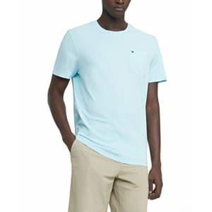 Tommy Hilfiger Men's Regular T Shirt with Pocket, Skyline Blue, SM for $23