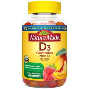 Nature Made Vitamin D3 2000 IU (50 mcg) Gummies, 90 Count for Bone Health (Packaging May Vary) for $13
