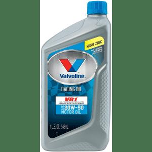 Valvoline VR1 Racing SAE 20W-50 Motor Oil 1-Quart Bottle 6-Pack for $20