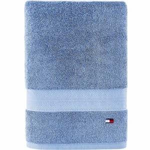Tommy Hilfiger Modern American Bath Towel, 30 x 54 inch, Mist Blue for $18
