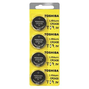 Toshiba CR2430 3 Volt Lithium Coin Battery (120 Batteries) for $98