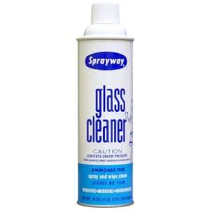 Sprayway Glass Cleaner Aerosol Spray 19-oz. Can for $9