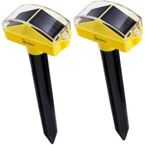 Redeo Solar Powered Ultrasonic Pest Repeller 2-Pack for $13