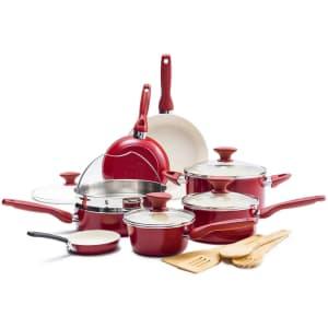 GreenPan Rio Ceramic Nonstick 16-Piece Cookware Set for $135