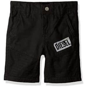 Diesel Boys' Big Casual Short, Mojito Black, 14 for $28