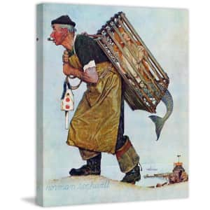 """Marmont Hill Norman Rockwell """"Mermaid"""" 24"""" x 29"""" Canvas Wall Art for $97"""
