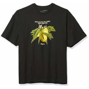 LRG Men's Kush Smoke Collection T-Shirt, Black/Lemon, S for $13