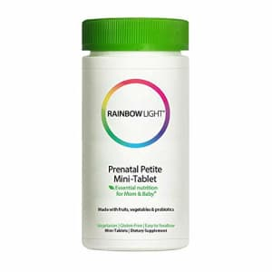 Rainbow Light Prenatal Petite Mini-Tab Multivitamin Plus Superfoods & Probiotics - Organic Daily for $21
