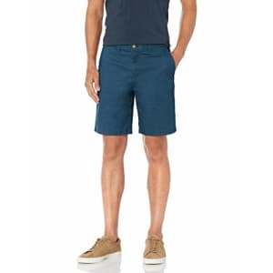 Tommy Hilfiger Men's Casual Stretch Chino Shorts, Alfalfa Blue, 38 for $45