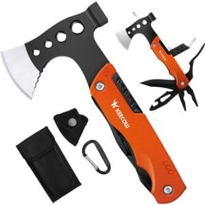 Keecow 14-in-1 Multitool Axe & Hammer for $12