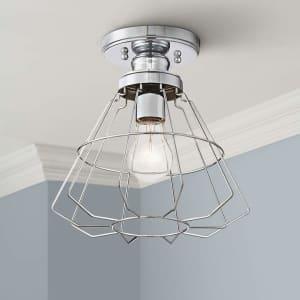 360 Lighting Nicholas Chrome Ceiling Light for $40