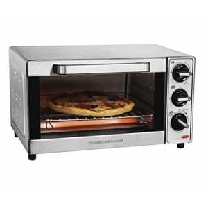 Hamilton Beach Countertop Toaster Oven & Pizza Maker, Large 4-Slice Capactiy, Stainless Steel for $50
