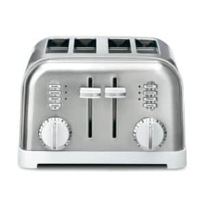 Cuisinart CPT-180WP1 Metal Classic 4-Slice toaster, White for $70