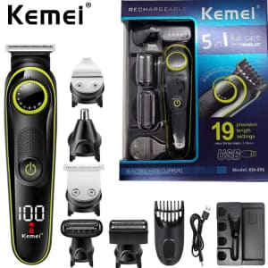 Kemei 5-in-1 Grooming Kit for $19