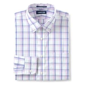 Lands' End Men's No-Iron Supima Dress Shirt for $10