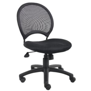 Boss Office Products Mesh Task Chair without Arms in Black for $140