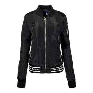 Rocawear Women's Logo Bomber Jacket for $14