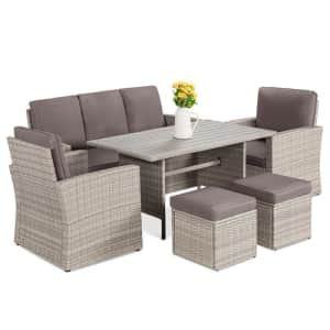 Best Choice Products 7-Seater Wicker Patio Dining Set for $600