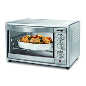 Oster Convection Toaster Oven, 6 Slice, Brushed Stainless Steel (TSSTTVRB04) for $130