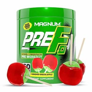 Magnum Nutraceuticals PRE FO Workout Powder (50 Servings) Green Apple for $40
