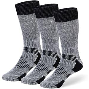 Cozia Men's Merino Wool Thermal Boot Socks 3-Pack for $9