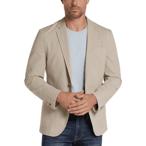 Joseph Abboud Men's Seersucker Slim Fit Casual Coat for $50