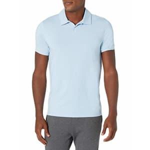 Amazon Brand - Peak Velocity Men's Pima Cotton Polo Shirt, Sky Blue, X-Large for $30