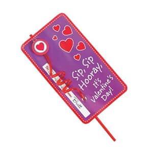 Fun Express VALENTINES STRAW WITH CARD EXCHANGE - Party Supplies - 12 Pieces for $16