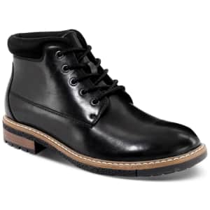 Alfani Men's Gordon Leather Chukka Boots for $24