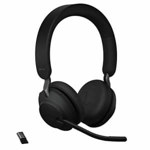 Jabra Evolve2 65 MS Wireless Headphones with Link380a, Stereo, Black Wireless Bluetooth Headset for for $249