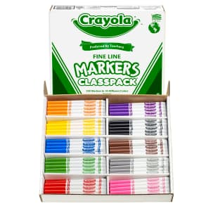 Crayola Fine Line Markers 200-Count Classroom Pack for $16