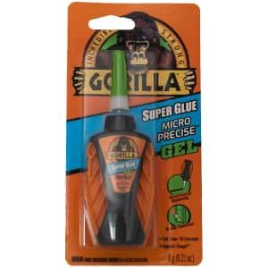 Gorilla Micro Precise Super Glue Gel 6g Bottle for $6