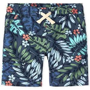 The Children's Place Boys' Printed Jogger Shorts, FEDERALBLU, 14 for $8
