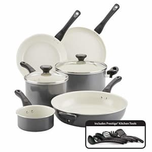 Farberware Go Healthy Nonstick Cookware Pots and Pans Set with QuiltSmart Technology, 14 Piece, for $100