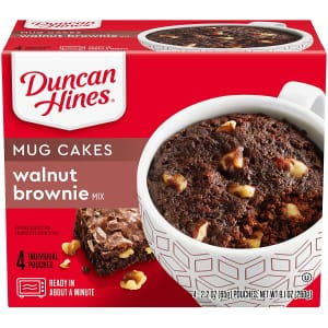 Duncan Hines Mug Cakes Walnut Brownie Mix 2.2-oz. Pouch 4-Pack for $1.90 via Sub & Save