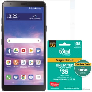 LG Journey Prepaid Phone for Tracfone w/ $35 Airtime Plan for $60