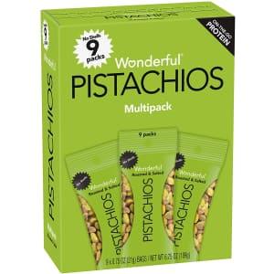 Wonderful Pistachios 0.75-oz. Shelled Pistachios 9-Pack for $6.59 via Sub & Save