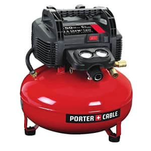 Porter-Cable 0.8 HP 6 Gallon Oil-Free Pancake Air Compressor for $109
