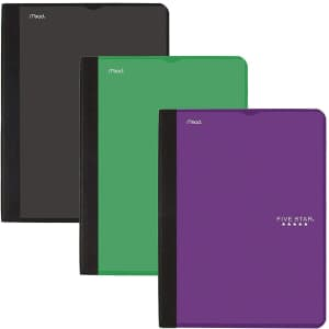 Five Star College Ruled 100-Sheet Composition Notebook 3-Pack for $14