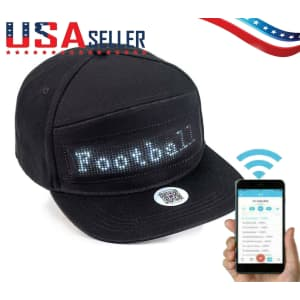 Programmable Bluetooth Sign Hat for $14