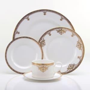 Oneida Golden Michelangelo 5-Piece Dinnerware Place Setting for $40